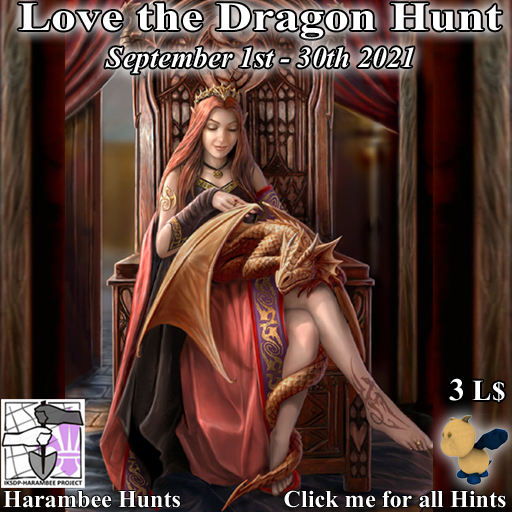Love the Dragon Hunt 2- Sept 1st/30th