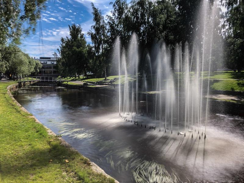 Canal fountain