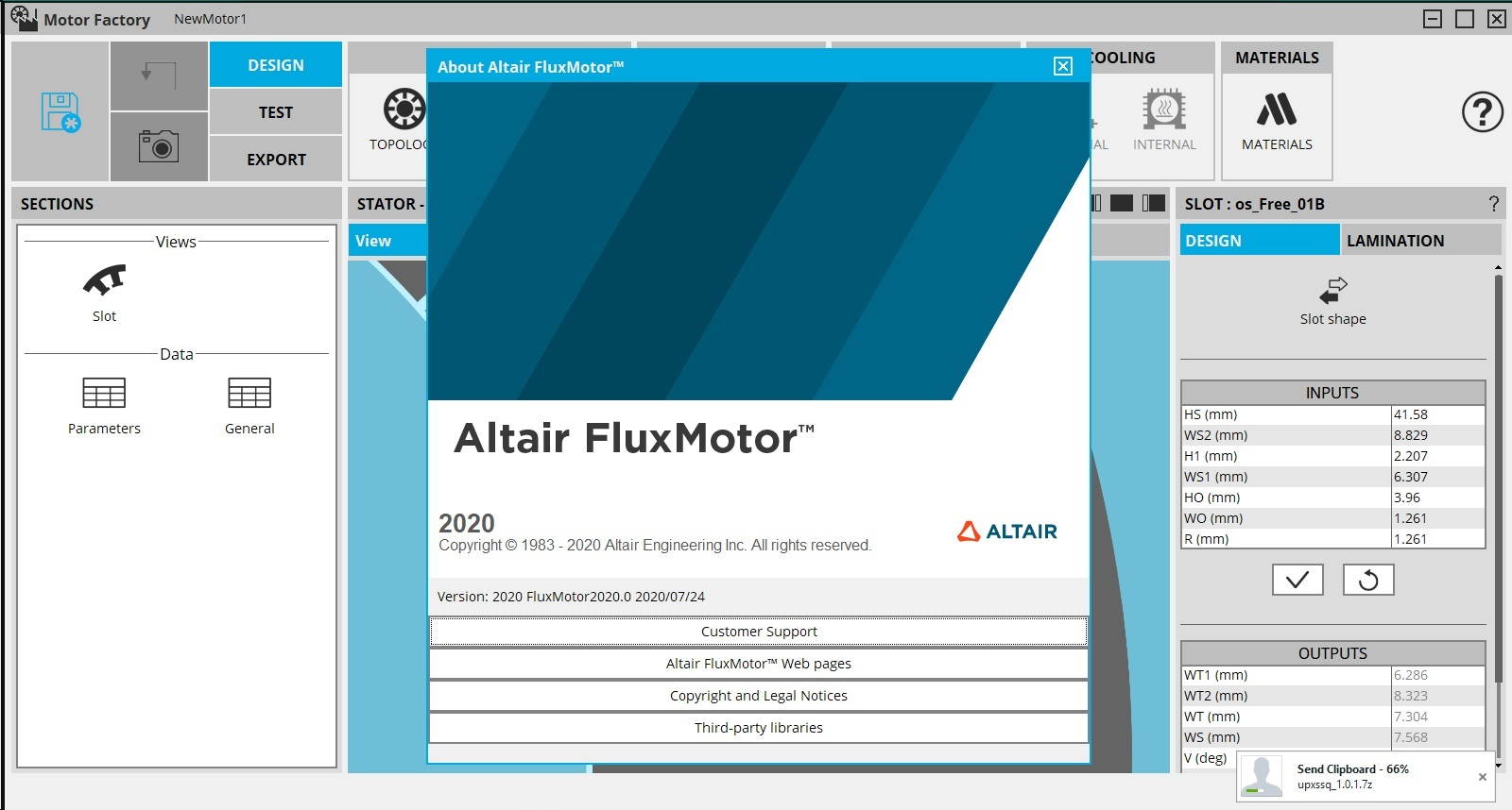 Working with Altair FluxMotor 2020.0.0 full license