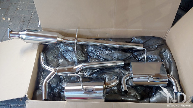 Mini Cooper S R53 JCW Gravity Performance eBay Exhaust Unpacking