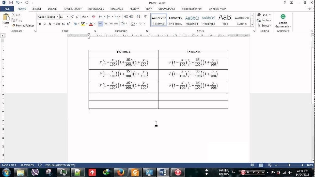 Working with GrindEQ Math Utilities 2015 full license