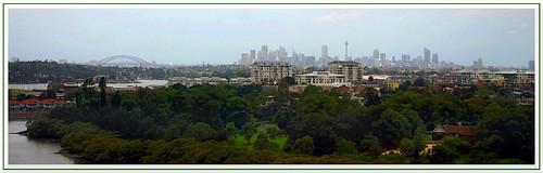 panorama sydney concord harborbridge cityscape nsw