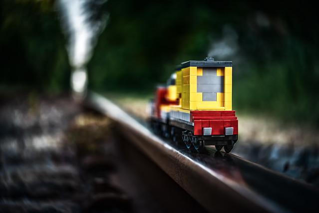Lego train changing dimensions