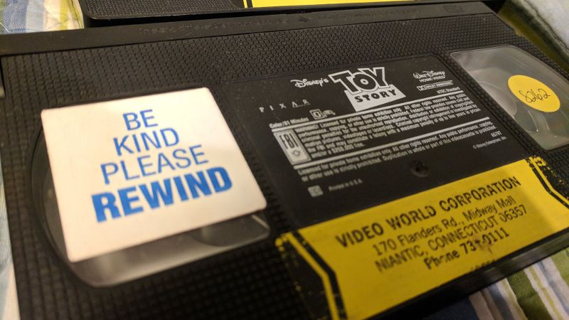 Be kind rewind VHS label