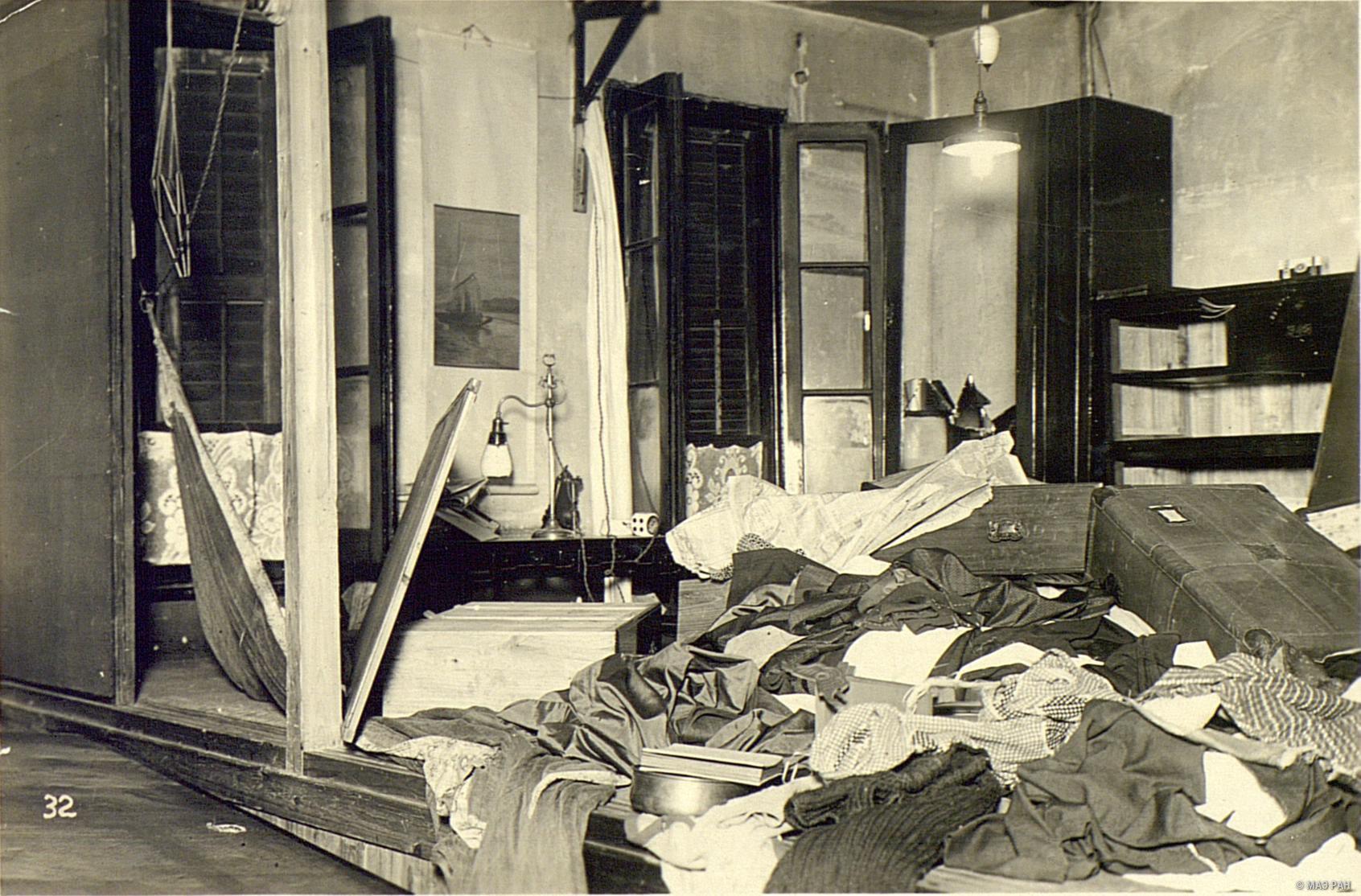 Японский дом, разрушенный восставшими кули в Ханькоу