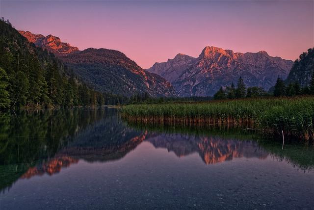 Hot evening at Lake Almsee