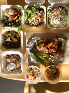 takeout from Lil Laos pop-up at Fooq's | by frodnesor