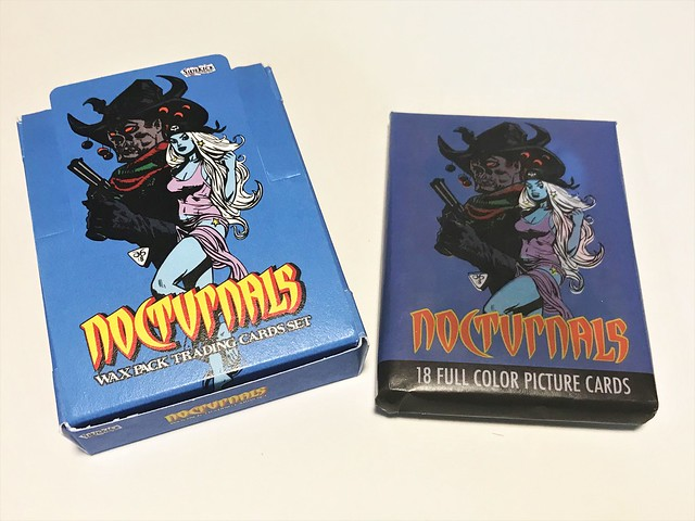 Nocturnals trading cards box & pack