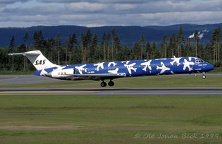 SAS MD-82 LN-RMD at ENGM/OSL 21-06-1999 | by Ole Johan Beck