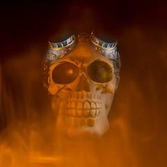 Skull on fire!