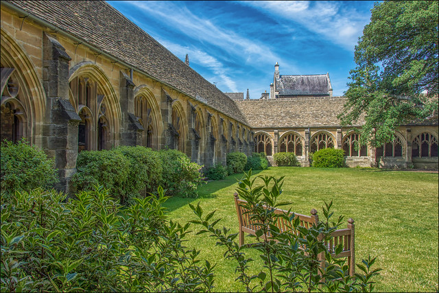 Oxford University, New College , the  cloister ... on Explore!
