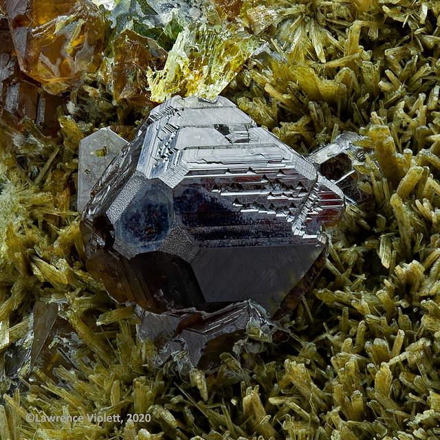 Sphalerite on Johannsenite, Arizona