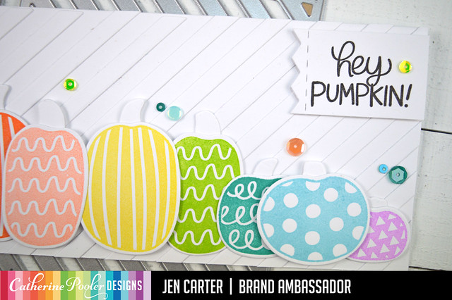 Jen Carter Rainbow Hey Pumpkin Narrow Stripe Closeup 1