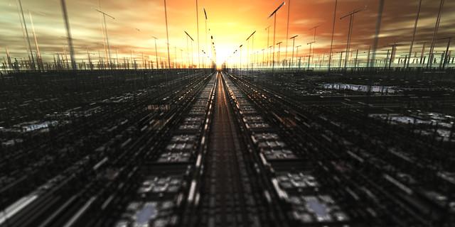 Rails in the horizon