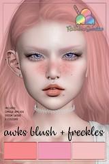 *Rainbow Sundae* Awks Blush & Freckles - So Kawaii Sundays