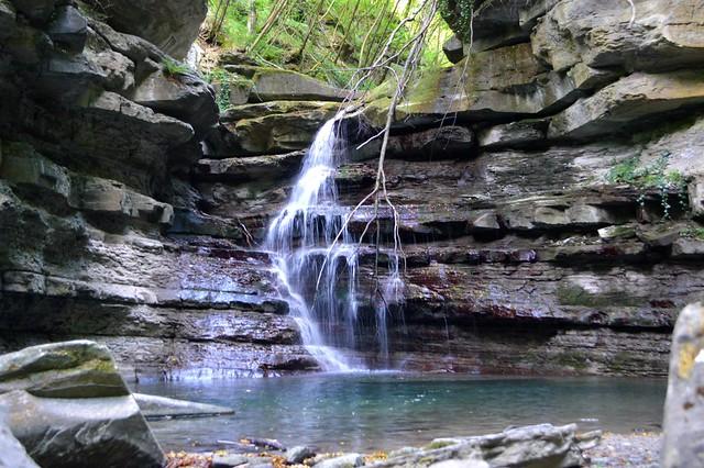 La cascata del Rio Rovigo, nel comune di Firenzuola