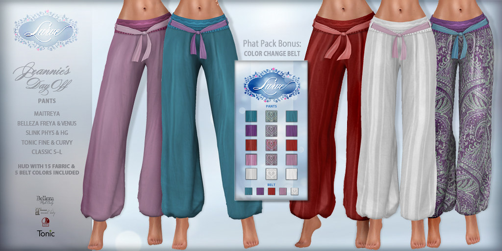*Lurve* Jeannie's Day Off - PANTS Phat Pack -  Vendor Pic