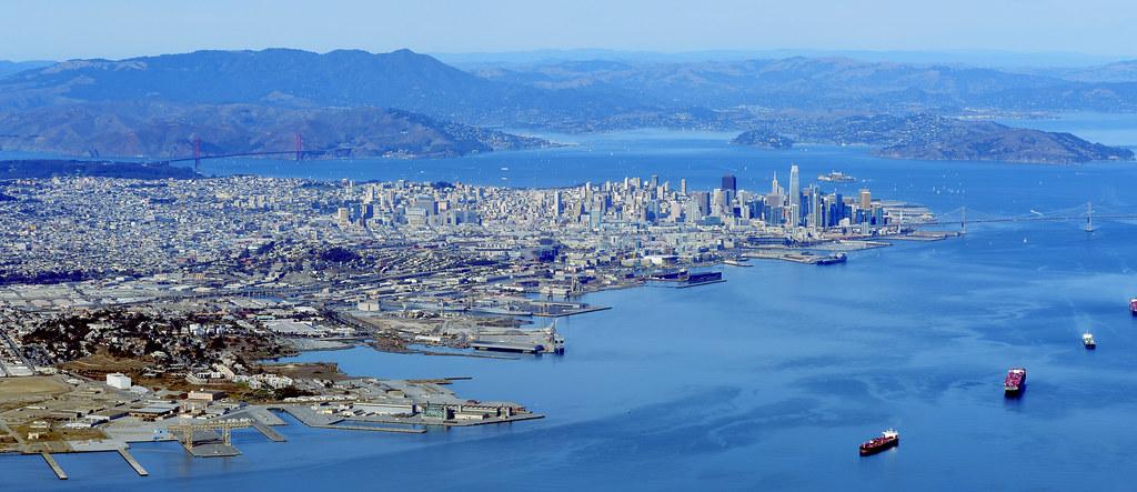 Downtown San Francisco, California—a pano