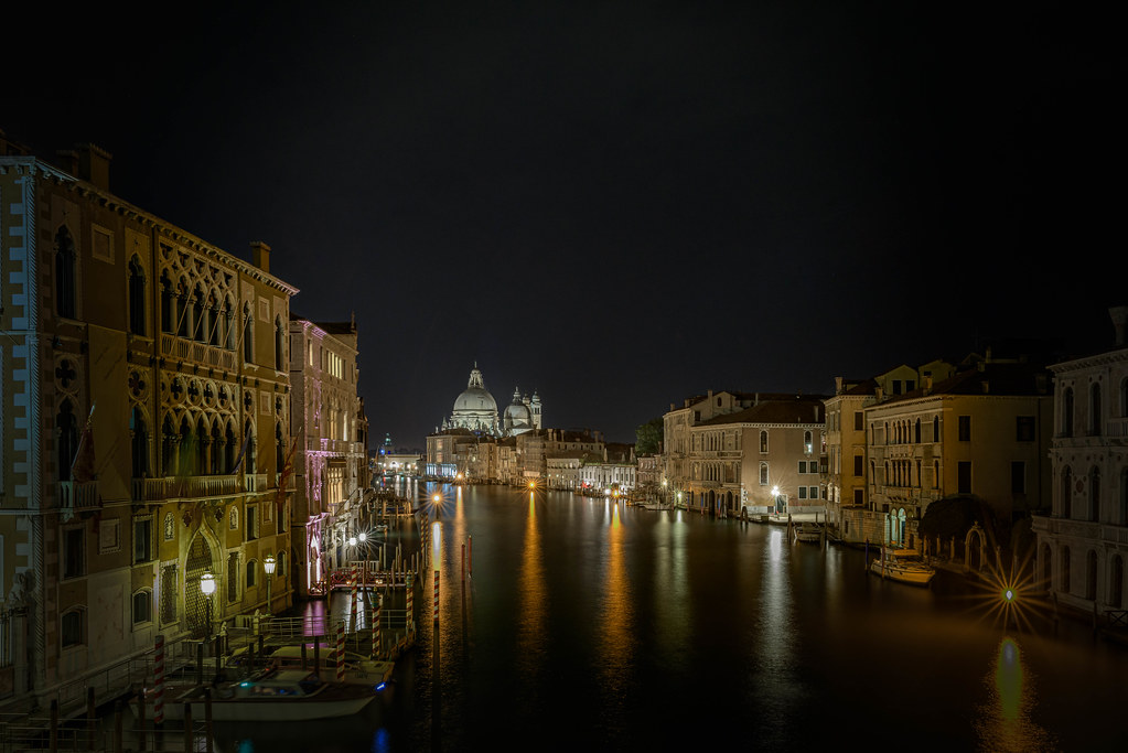 View from Ponte dell'Accademia along the Grand Canal towards the Basilica di Santa Maria della Salute