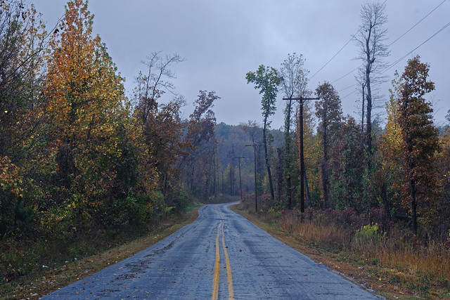 Outdoor More! Along the Brady Mountain Road with a view looking to the southwest in the Ouachita National Forest