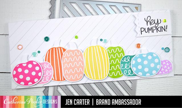 Jen Carter Rainbow Hey Pumpkin Narrow Stripe