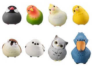 GASHAPON Hugcot小鳥咬線器轉蛋第二彈!更多萌鳥在充電線上排排站