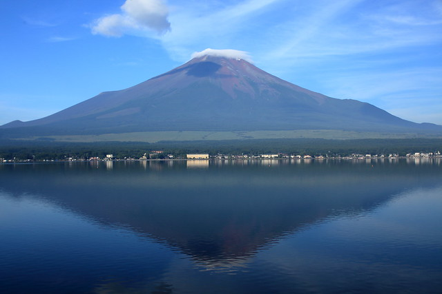 Mt.Fuji from the banks of Lake Yamanaka