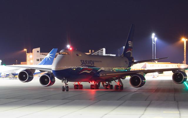 Silk Way West Airlines Boeing 747-83QF VQ-BBH 200810 ARN