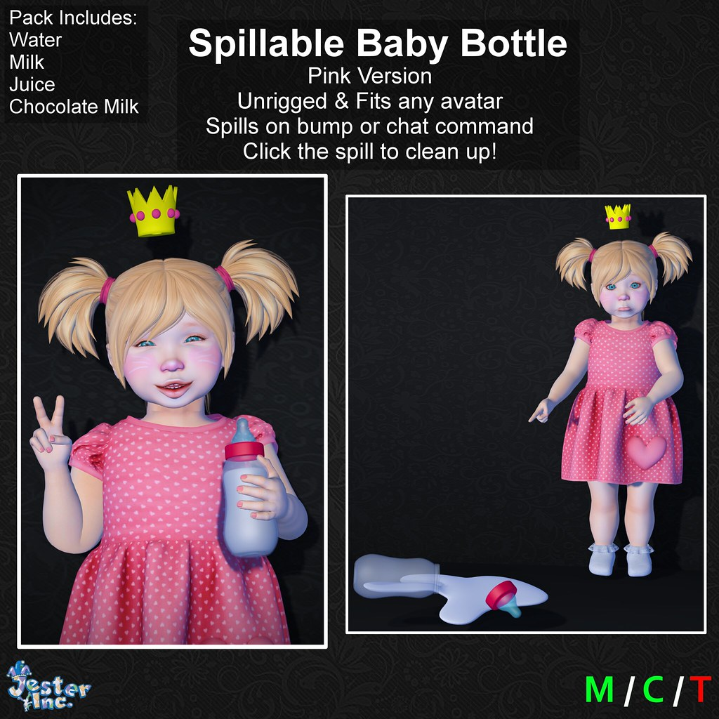 Presenting the new Spillable Baby Bottles from Jester Inc.