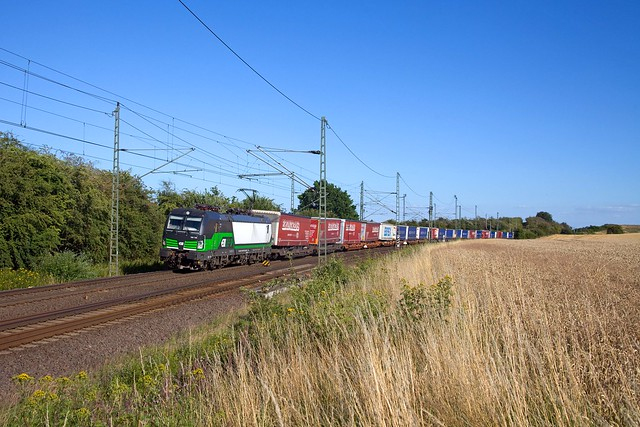 LTE 193 735 + goederentrein/Güterzug/freight train  Poznan - Rotterdam  - Belsdorf