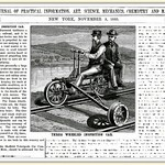 Sat, 1883-11-03 20:52 - Manufactured by the Sheffield Velocipede Car Company Three Rivers, Mich.  Scientific American Magazine, November 3, 1883. I like the way things were portrayed in those days. They didn't have multi media to get a point across most often they had one shot and they had better make it good.