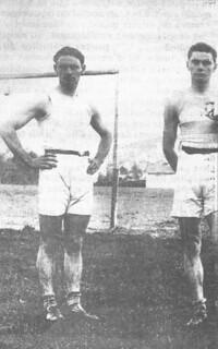 Les frères Reverchon, Marel (à gauche) et Jean, en 1922