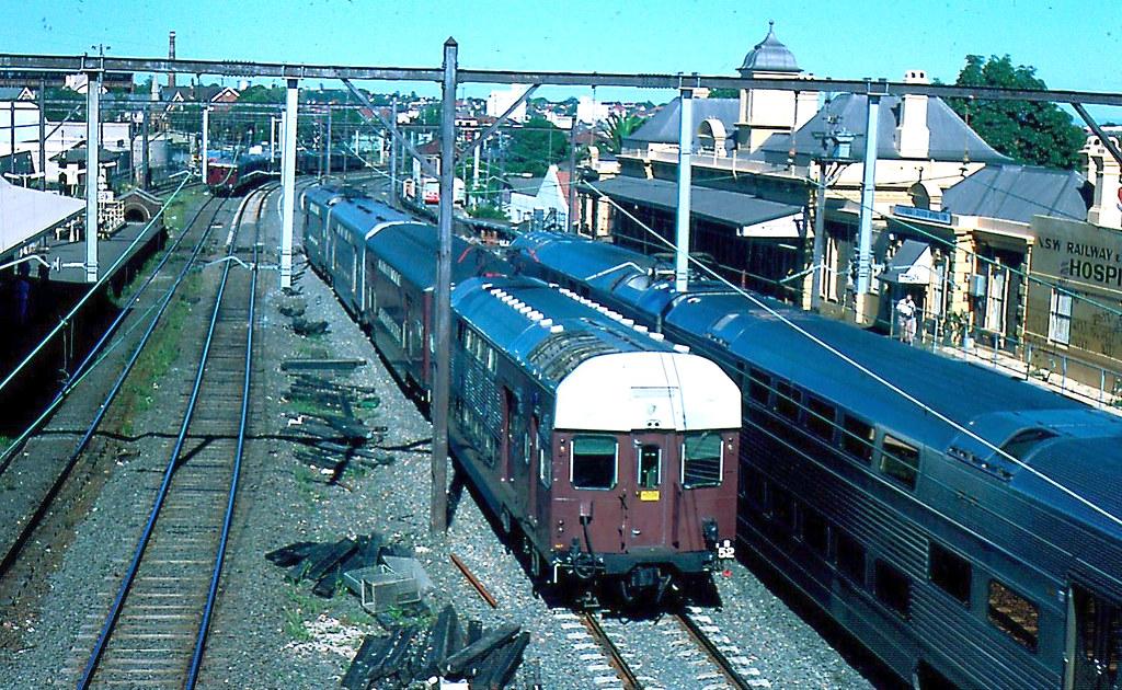3 Trains at Petersham NSW Australia