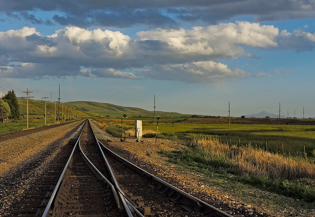 Rails at McCammon, Idaho. USA