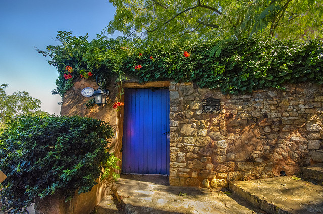 Down the Cobblestone Stairs to a Blue Door