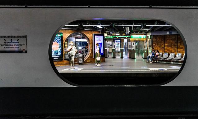 dans le métro lyonnais