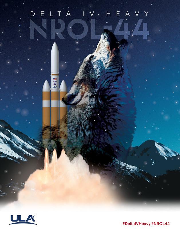 Delta IV Heavy NROL-44 Mission Artwork