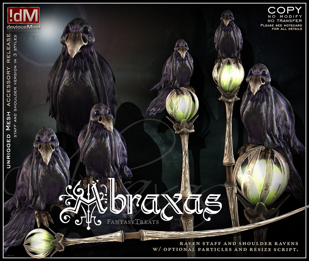 "!dM deviousMind ""Abraxas"" RavenFamiliar"