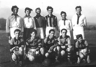 L'équipe de football du collège d'Orgelet en 1940