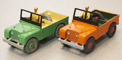 Dinky Toys Nos. 27d and 340 Land Rovers