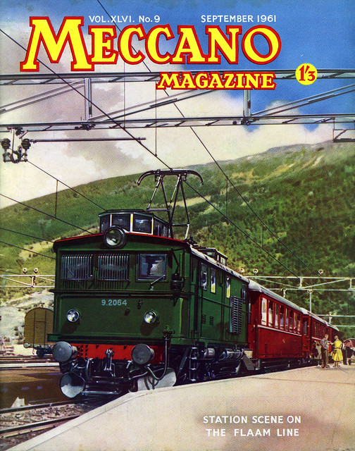 Meccano Magazine September 1961 the Flaam Line, Norway