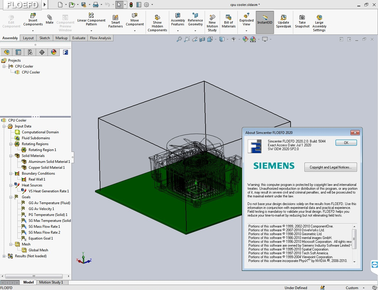 Working with Siemens Simcenter FloEFD 2020.2.0 v5054 full license