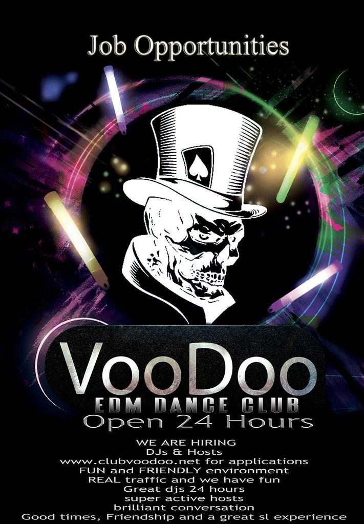 Voodoo EDM Dance Club NOW HIRING
