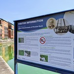 Information board at Preston Docks