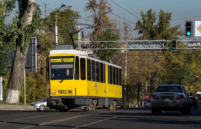 Almaty tramway (closed): Tatra KT4DtM # 1002