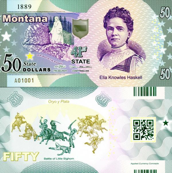 USA 50 Dollars 2015 41. štát - Montana polymer