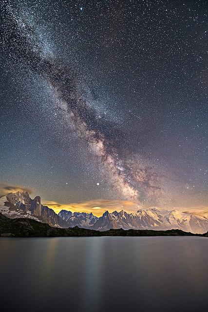 Milky Way over Mont Blanc