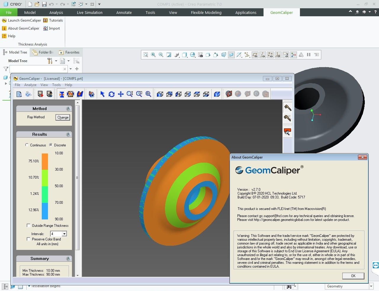 Working with Geometric GeomCaliper 2.7.0 for Creo 7.0 full