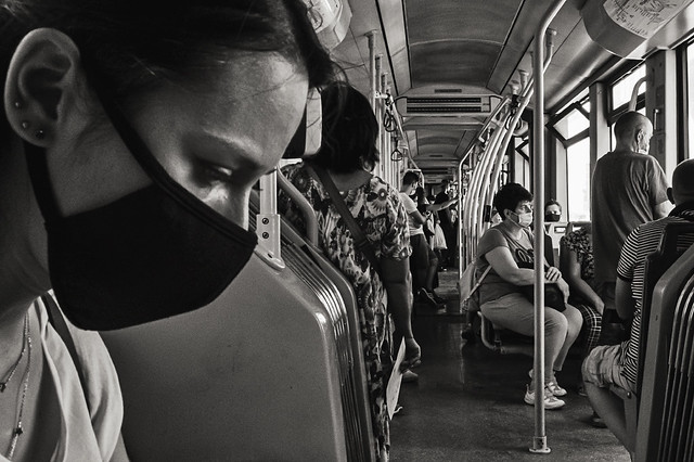 Sui mezzi in pandemia, Roma, 2020