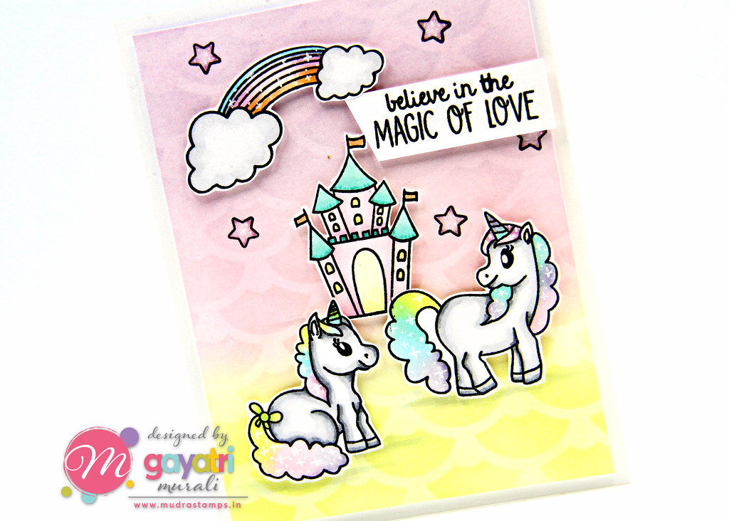 Unicorn card #2 closeup